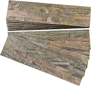 Aspect Peel and Stick Stone Overlay Kitchen Backsplash - Weathered Quartz (Approx. 15 sq ft Kit) - Easy DIY Tile Backsplash
