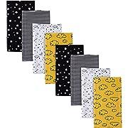 GERBER Baby Boys' 8-Pack Flannel Burp Cloth, Star, 20  x 14