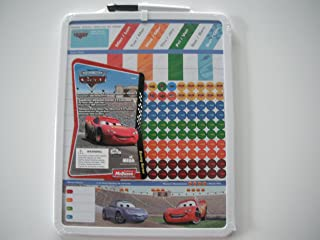 Board Dudes Disney Cars Magnetic Dry Erase Rewards Chore Chart with Marker and Magnets - Lightning McQueen