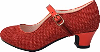 La Senorita Spanische Flamenco Schuhe - Rot Glamour