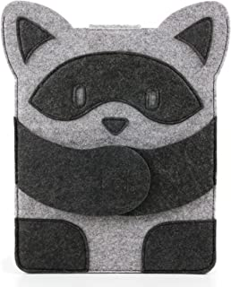 DURAGADGET Grey Felt Tablet Case with Raccoon Design for The Archos 97b Titanium   Archos ChefPad