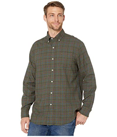 Southern Tide Skysail Plaid Sport Shirt (Dark Sage) Men