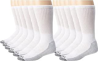 Men's Dri-Tech Comfort Crew Socks, White, 12 Pair