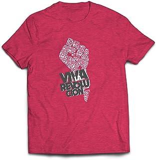 lepni.me Camisetas Hombre Puño - Viva La Revolución -