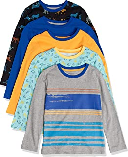 Amazon Essentials Long-Sleeve T-Shirts Fashion-t-Shirts Niños (Pack de 5)