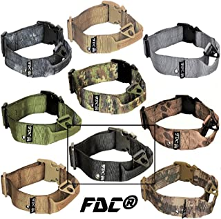 FDC Dog Tactical Collars with Handle Heavy Duty Training Military Army Width 1.5in Plastic Buckle TAG Hole Medium Large M, L, XL, XXL