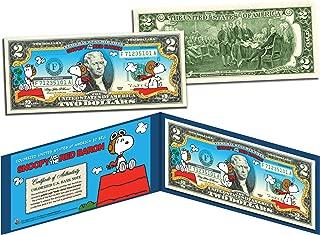 Merrick Mint PEANUTSSNOOPY vs. RED Baron Legal Tender US $2 BillLICENSED Charlie Brown