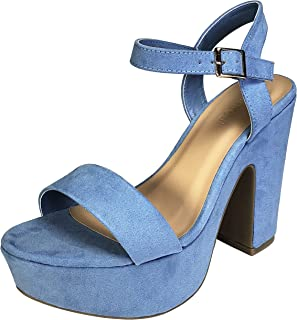 Best baby blue platform heels Reviews