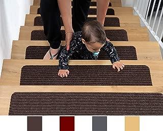 EdenProducts Patent Pending Non Slip Carpet Stair Treads, Set of 15, Rug Non Skid Runner..