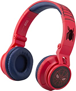 Marvel Spiderman Far from Home Kids Bluetooth Headphones Wireless with Built-in Microphone & Detachable Cord