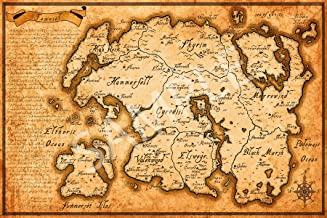 Best Print Store - Elder Scrolls Map of Tamriel Poster (24x36 inches)