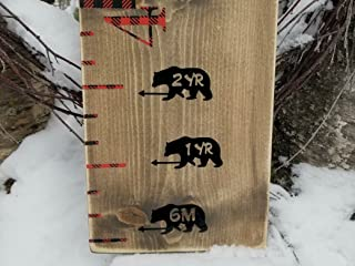 Bear ~ Height Marking Arrows for Growth Charts