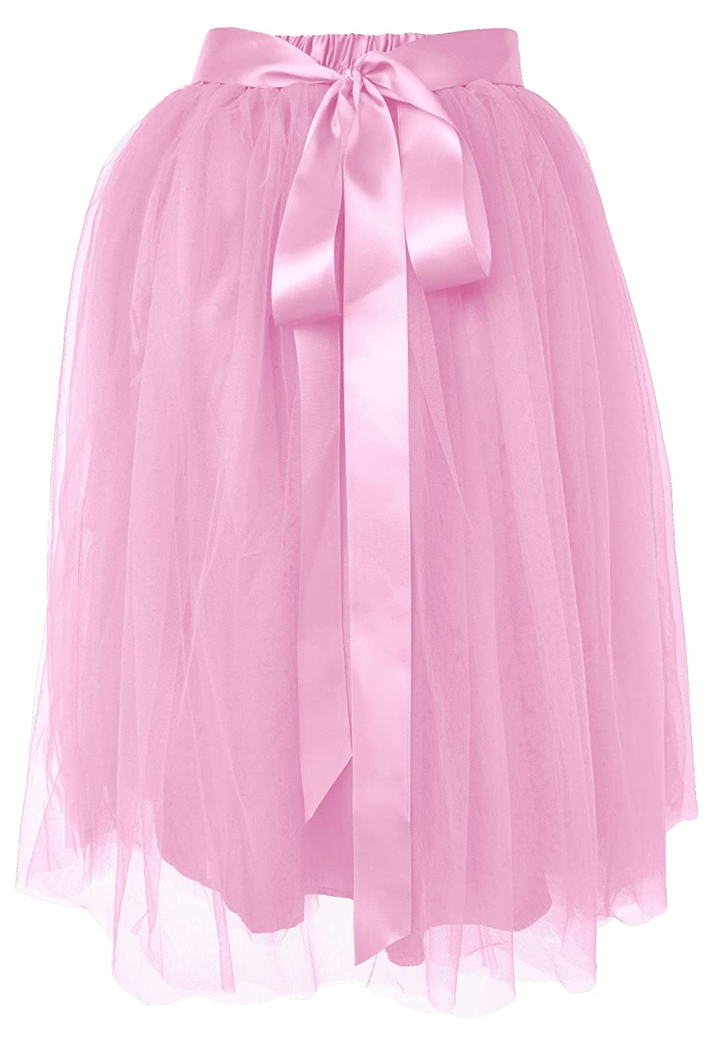 Dancina Girls Knee Length Tutu A Line Layered Tulle Skirt Ages 2-12
