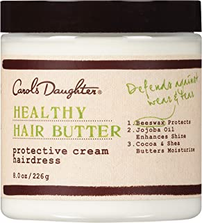 Carol's Daughter Healthy Hair Butter Protective Cream Hairdress | Curl Cream with 7 Essential Oils, Shea Butter, and Cocoa Butter | 8 Ounce