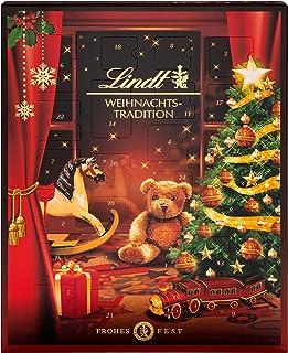 Lindt Weihnachts-Tradition Adventskalender 2021   253 g verschiedene Pralinen- und Schokoladen-Überraschungen   Ideales Sc...
