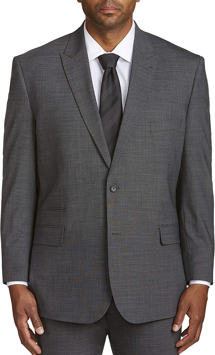 DXL Synrgy Big and Tall Performance Stretch Suit Jacket, Grey