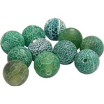 Ecloud Shop Azules granos redondos de la piedra preciosa de piedra turquesa 10mm Una Strand