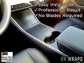 EV Wraps Tesla Model 3 Center Console Wrap - Carbon Fiber