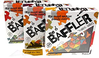 Brainwright The Baffler Jigsaw Puzzle Set 3 Bundle - Kitchen Sink, Bindu Truss & The Nonagon