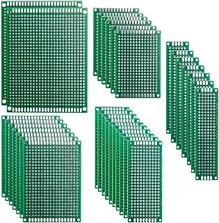ELEGOO 32 Piezas Doble Cara Junta de PCB Doble Cara Tarjeta Placa Prototipo Kit para Soldadura DIY con 5 Tamaños Compatible con los kits Arduino
