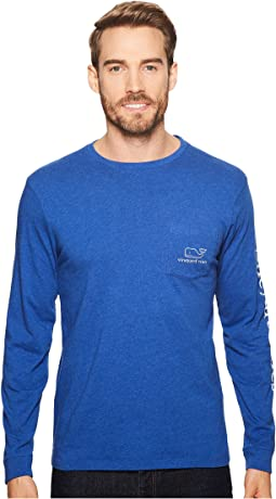 Vineyard Vines - Long Sleeve Heather Vintage Whale Pocket Tee