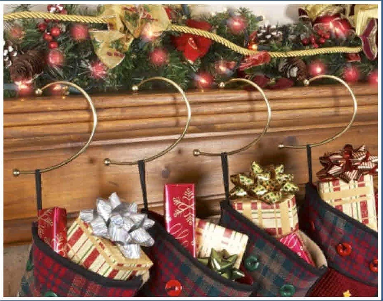 Jumbl Brass free shipping Gravity Defying Christmas Luxury goods Se Hangers - Hook Stocking
