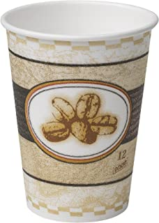 Dixie PerfecTouch 12 oz. Insulated Paper Hot Coffee Cup by GP PRO (Georgia-Pacific), Beans Design, 5342BE, 1,000 Count (50 Cups Per Sleeve, 20 Sleeves Per Case)