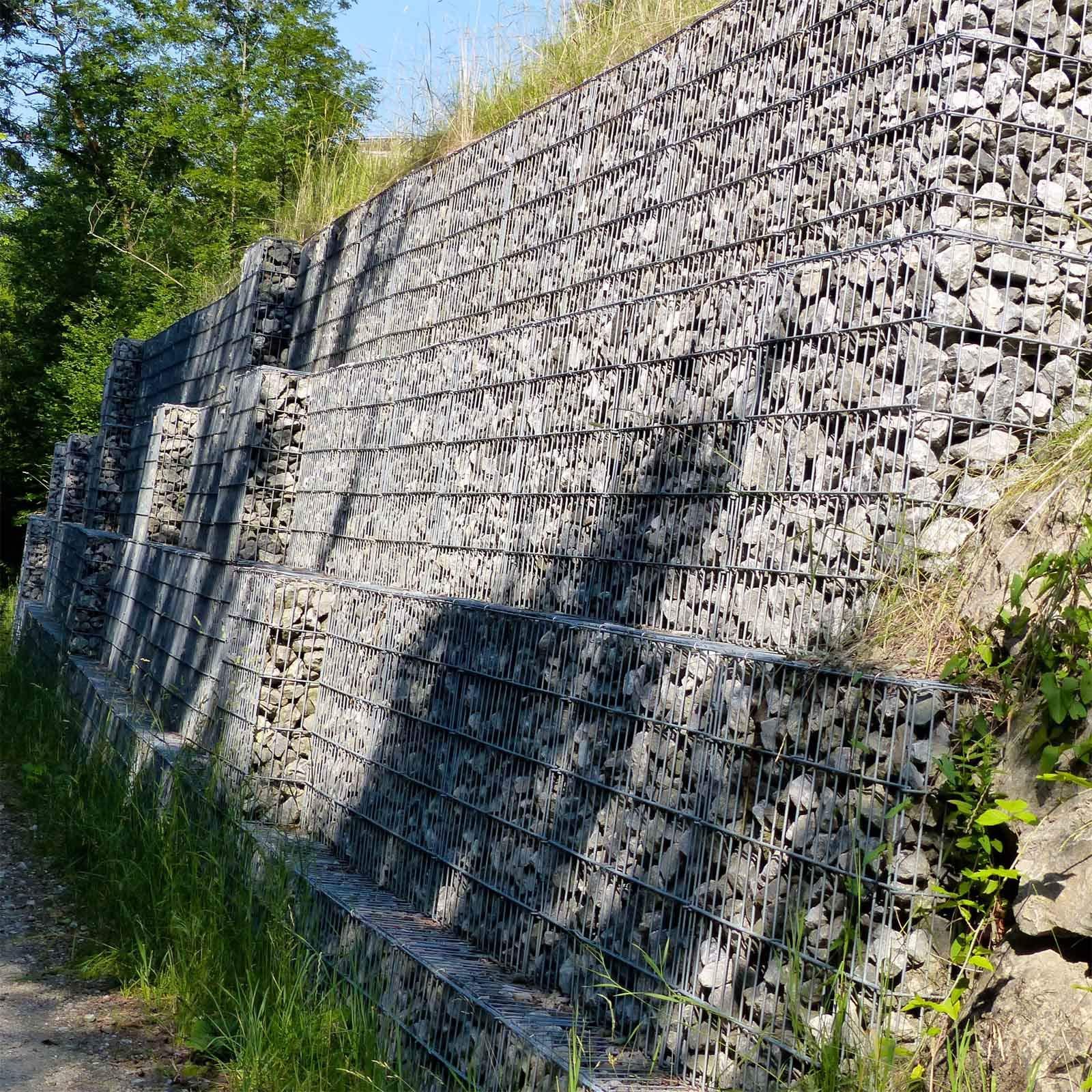 WilTec Gavión 100x30x30 cm Muro Alambre Relleno Piedras Cierre Cercado Vallado Cesto Alambre Dique Jardín: Amazon.es: Deportes y aire libre