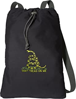 Don't Tread on Me Drawstring Backpack RICH CANVAS Don't Tread on Me Cinch Bag