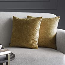 GMF Othello Crushed Velvet Throw Cushion Cover/Cases with Zipper - Luxurious Soft Decorative Square Pillow Cover for Livin...