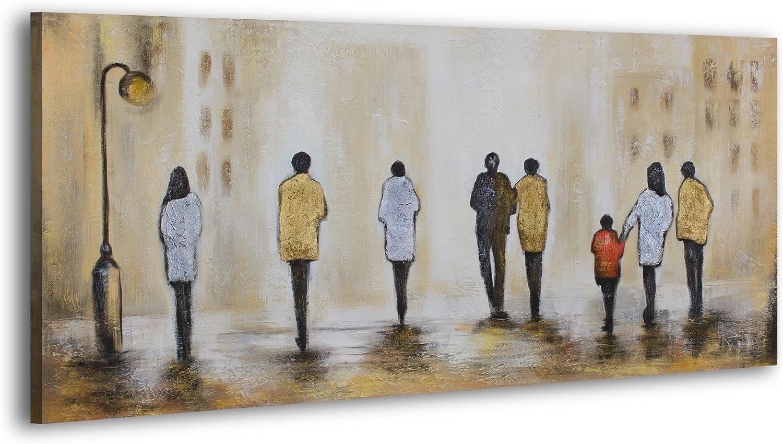 Ys Art Acryl Gemalde Angenehmes Treffen Iii Handgemalt Wand