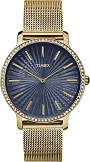 Timex Womens Analogue Classic Quartz Watch with Stainless Steel Strap