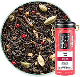 Tiesta Tea - Chai Love, Loose Leaf Spiced Chai Black Tea, High Caffeine, Hot & Iced Tea, 4 oz Tin - 50 Cups, Natural Flavo...