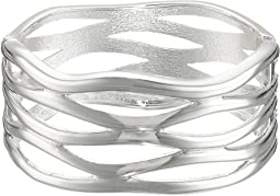 Cut Out Hinge Bangle Bracelet