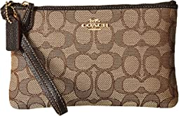 Boxed Small Wristlet In Signature Jacquard