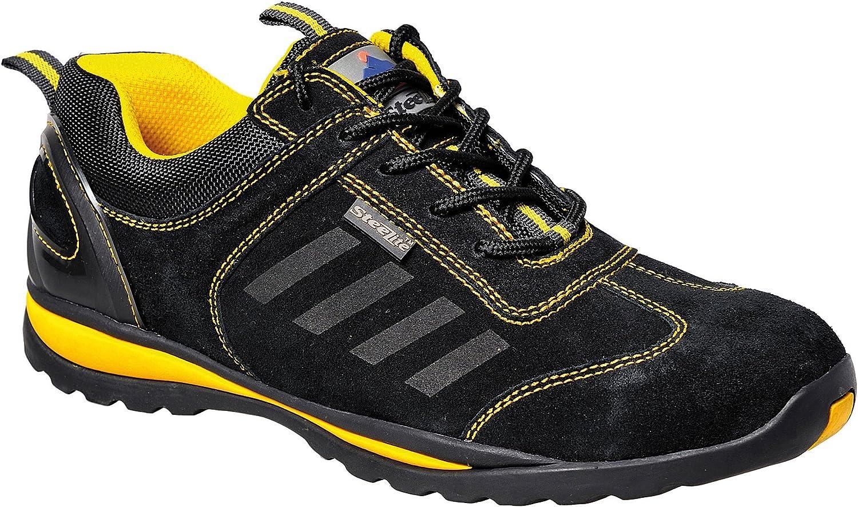 Portwest Unisex Steelite Lusun Safety Trainer Footwear (13) (Black)