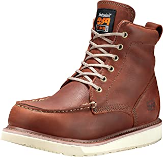 """Timberland PRO Men's 53009 Wedge Sole 6"""" Soft-Toe Boot,Rust,12 W"""
