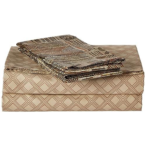 DaDa Bedding FSFSF8279 4-Piece Checkered Cotton Sheet Set, Full