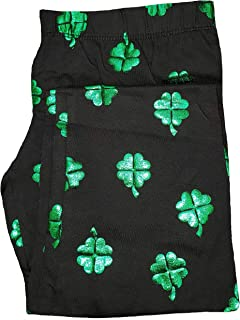 7b512c244bf4c No Boundaries St. Patrick's Day Shamrock All Over Black Ankle Legging