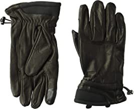 Kenneth Cole REACTION Men's 100% Leather Winter Gloves, Black, Large