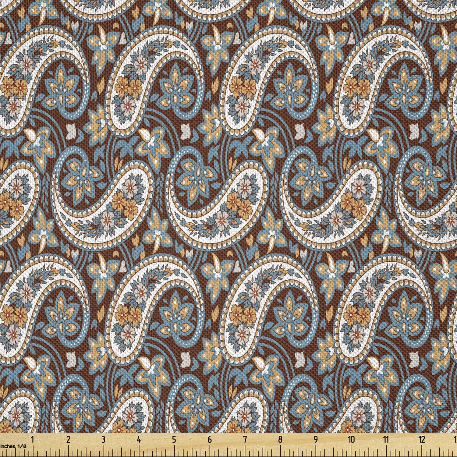 Ambesonne Paisley Fabric Super-cheap by Selling and selling The Vintage Yard Oriental Jacquard