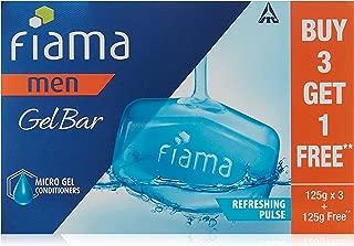 Fiama Men Refreshing Pulse Gel Bar, 125g (Buy 3 Get 1 Free)