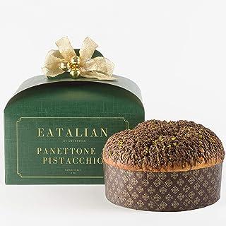 EATALIAN BY AMZ BETTER Panettone Artigianale al Pistacchio 1 Kg, Autentico, Soffice e Profumato, Dolce di Natale, Made in ...