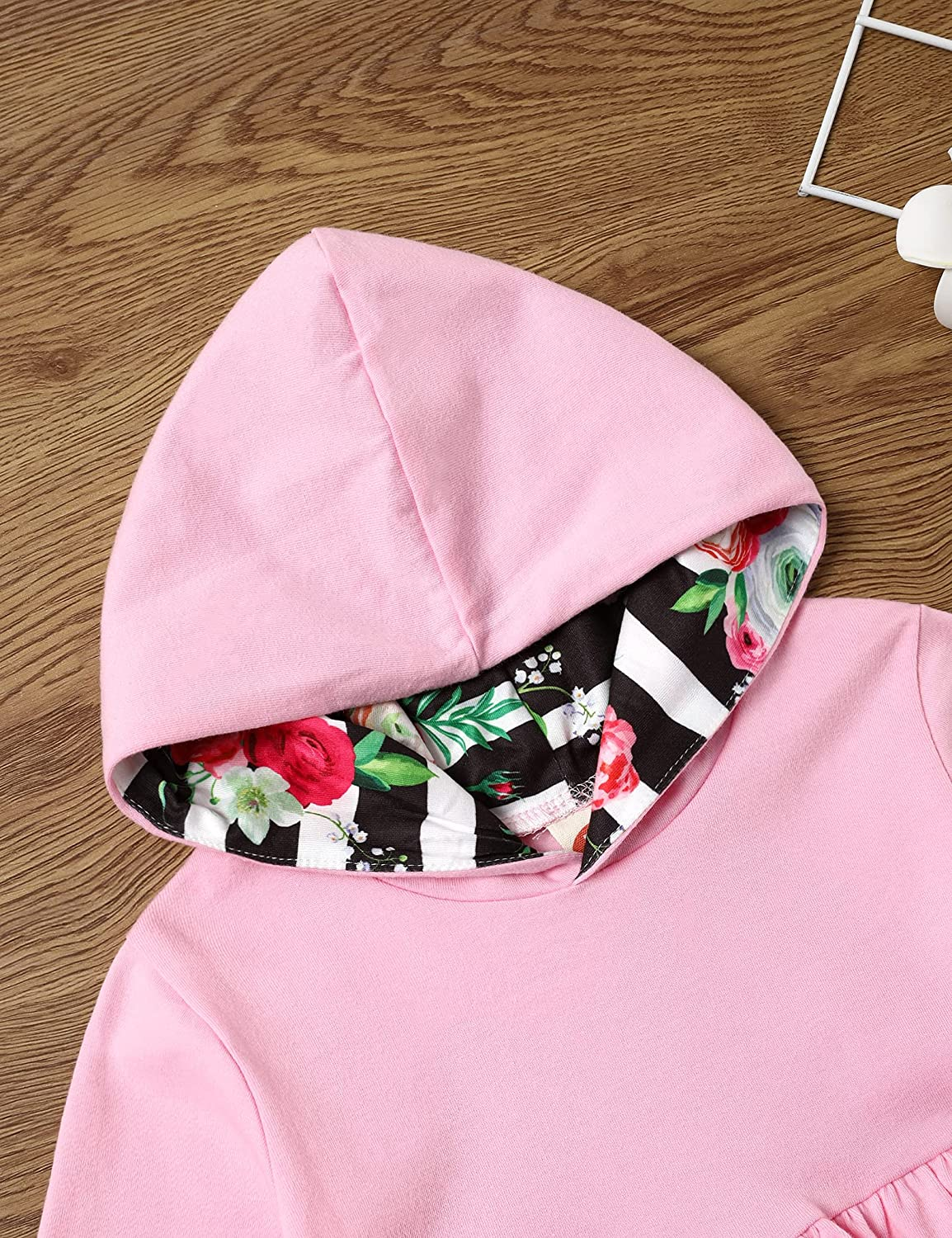 Toddler Baby Girls Clothes Outfits Ruffle Hoodie Top Pants Girls Sweater Outfits