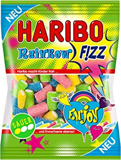 Haribo Rainbow Fizz, Gummy Bears, Wine Gum, Fruit Gum, Sour, 175 g