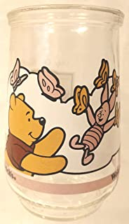 Welch's Jelly Jar, Pooh and Piglet Jelly Jar, Pooh and Piglet Juice Glass, Welch's Pooh and Piglet Jelly Glass,
