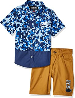 Marc Ecko Boys Sleeve Printed Woven Shirt and Short Set