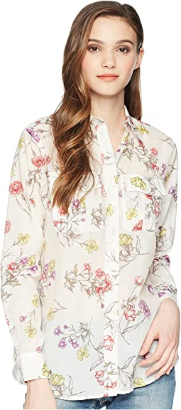 Floral Cotton Blend Shirt