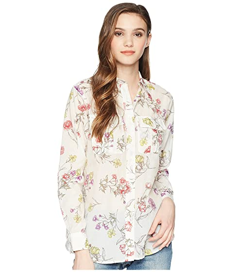 Lauren Ralph Lauren Floral Cotton Blend Shirt, CHALK MULTI