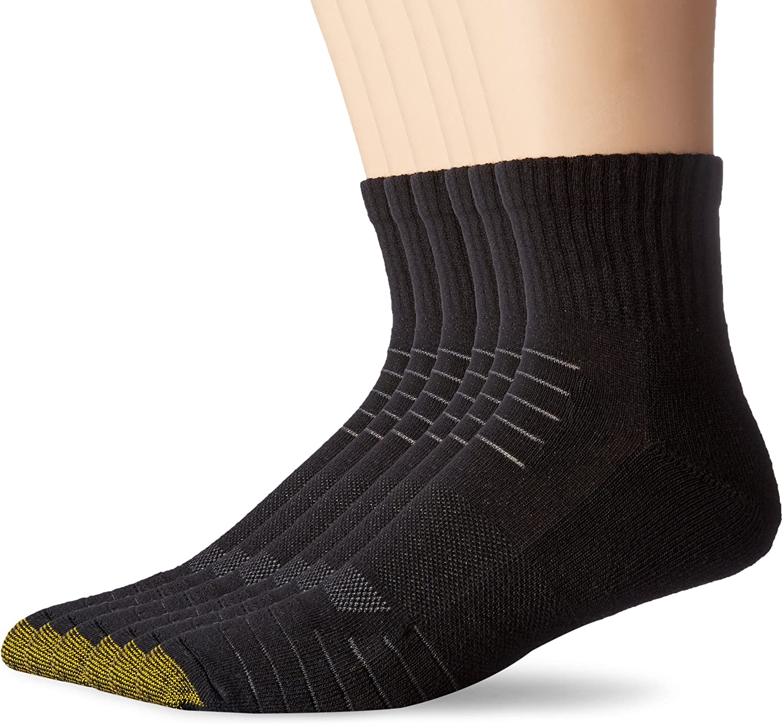 lot of 12 pairs 3-4 packs new mens gold toe socks vapor tech argyle 6-12.5 04-20